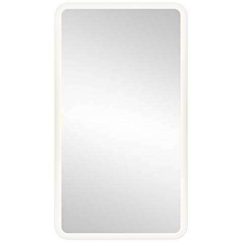 "Elan Edge-Lit Border 19"" x 35 1/2"" LED Wall Mirror"