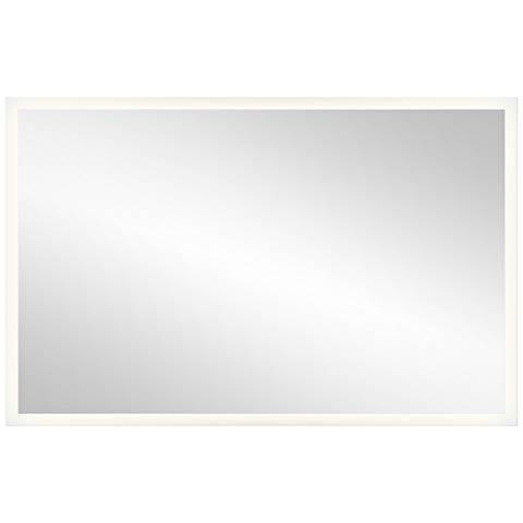 "Elan Edge-Lit Border 39"" x 25"" LED Wall Mirror"