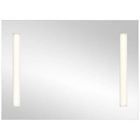 "Elan Edge-Lit Soundbar 36"" x 26"" Large LED Wall Mirror"