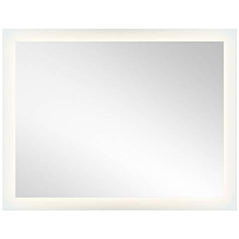 "Elan Edge-Lit Etched Glass 54"" x 42"" LED Wall Mirror"