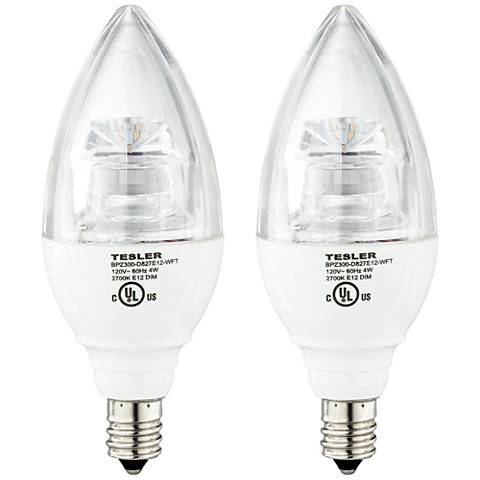 4 Watt Candelabra Base Dimmable LED Bulbs 2-Pack