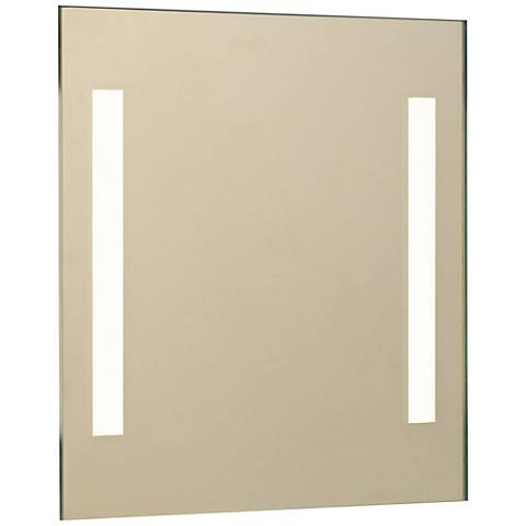 """Aptations Showerlite Clear Mirror 12"""" Square LED Wall Mirror"""
