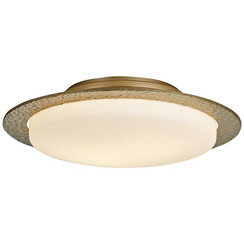 "Hubbardton Forge Oceanus 16 1/2""W Soft Gold Ceiling Light"