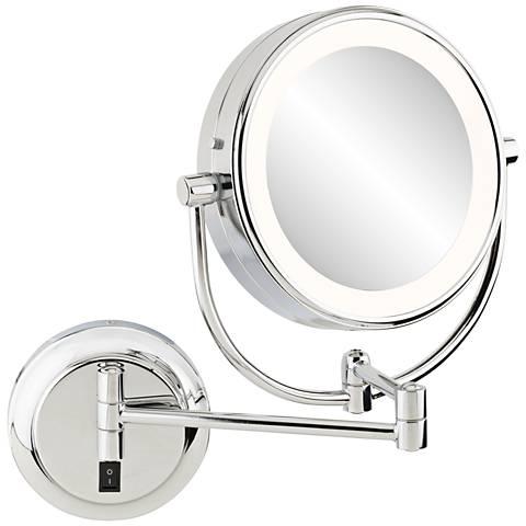 "Aptations Neomodern 1 3/4"" Deep Chrome LED Makeup Mirror"