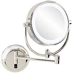 Wall Makeup Mirror wall mounted makeup mirrors - magnifying, lighted & more | lamps plus