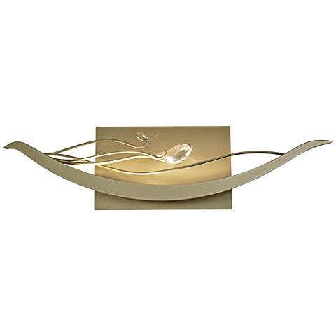 "Hubbardton Forge Courbe 6 1/2""H Soft Gold LED Wall Sconce"