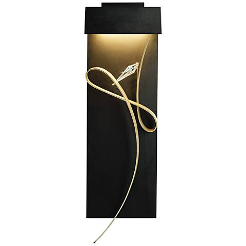 "Hubbardton Forge Rhapsody 26 1/2""H Black LED Wall Sconce"