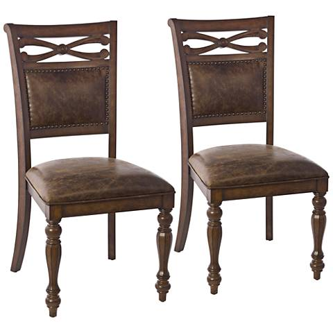Hillsdale Seaton Springs Aged Brown Dining Chair Set of 2