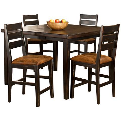 Hillsdale Killarney Black and Brown 5-Piece Dining Set