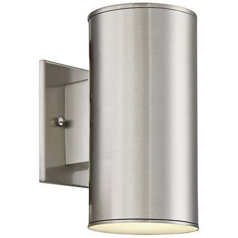 "Barrow 8 3/4"" High Satin Platinum LED Outdoor Wall Light"