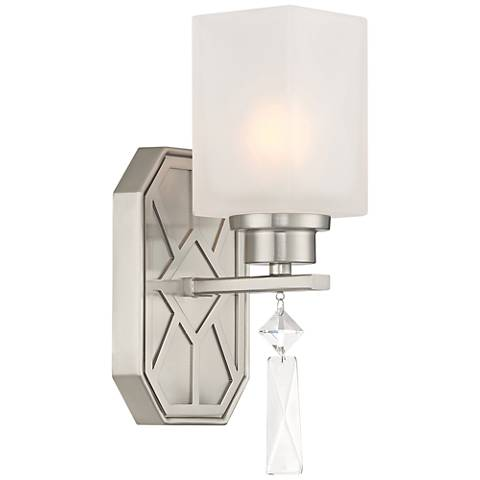 """Brentwood 11"""" High Satin Platinum Wall Sconce"""