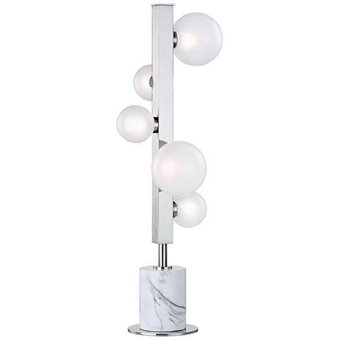 Hudson Valley Mini Hinsdale Polished Nickel 5-LED Table Lamp