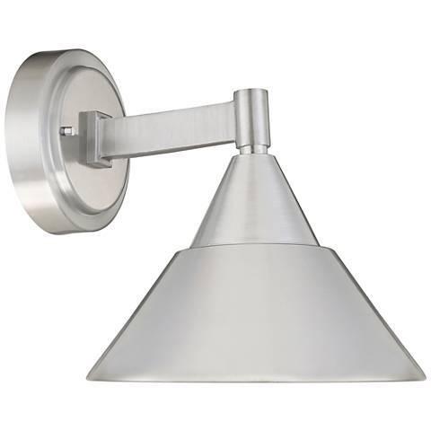 "Fremont 8 1/2"" High Brushed Aluminum LED Outdoor Wall Light"