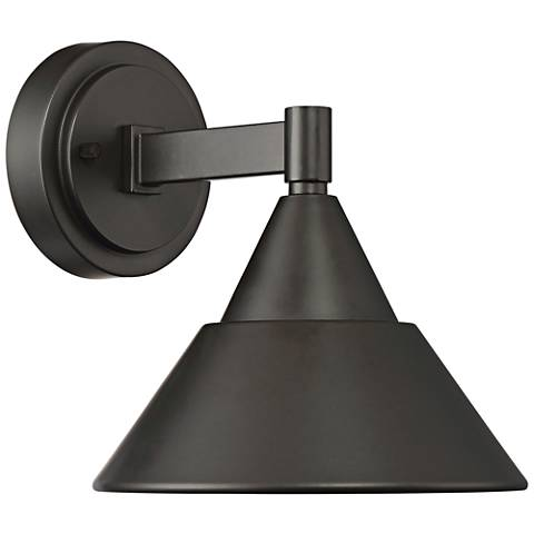 """Fremont 8 1/2""""H Oil Rubbed Bronze LED Outdoor Wall Light"""