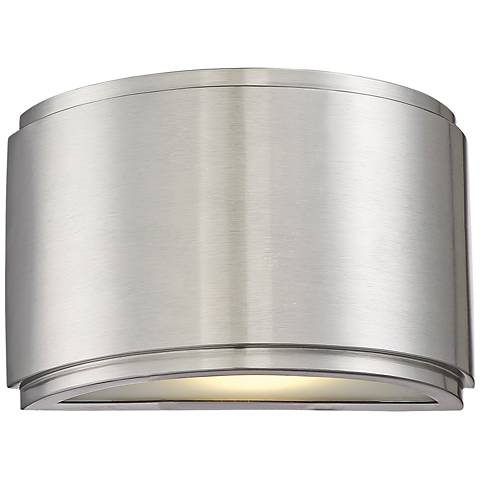 "Halsey 5""H Brushed Aluminum Small LED Outdoor Wall Light"