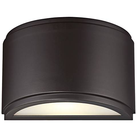 "Halsey 5""H Oil Rubbed Bronze Small LED Outdoor Wall Light"