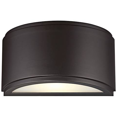 "Halsey 5""H Oil Rubbed Bronze Large LED Outdoor Wall Light"