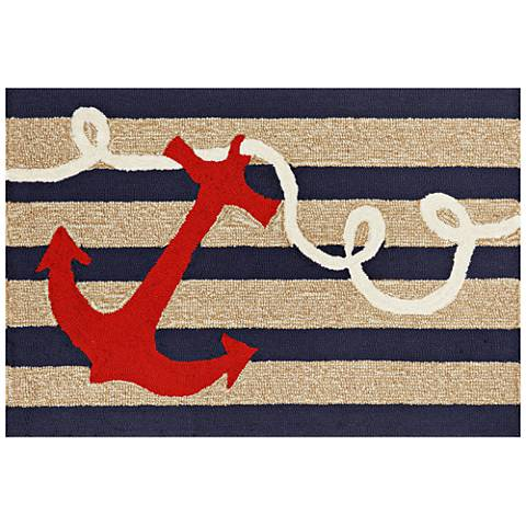 Frontporch Anchor 140033 Navy Outdoor Area Rug