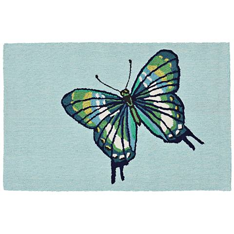 Frontporch Butterfly 181406 Blue Outdoor Area Rug