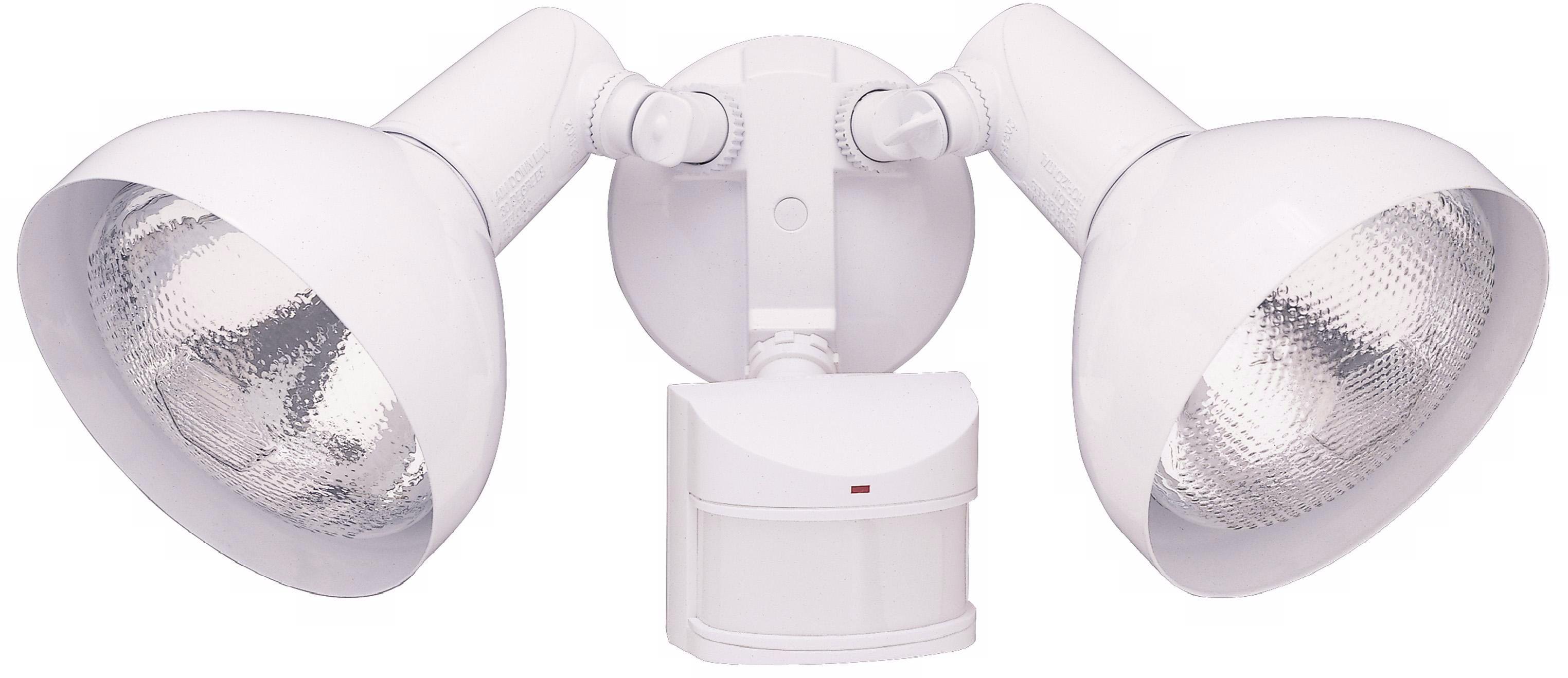 Two Light White Adjustable Outdoor Motion Sensor Lights