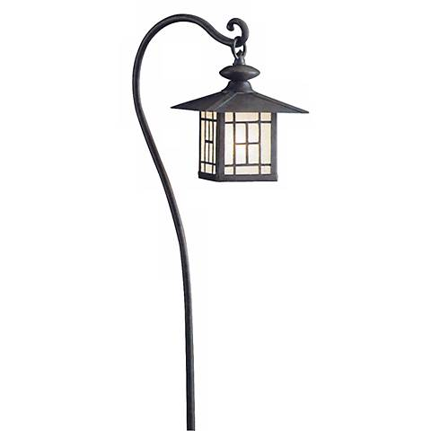 Kichler Patina Bronze Lantern Landscape Path Light