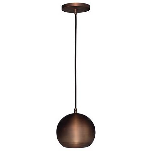"Bronze Finish Ball Access Lighting 5"" Wide Mini Pendant"