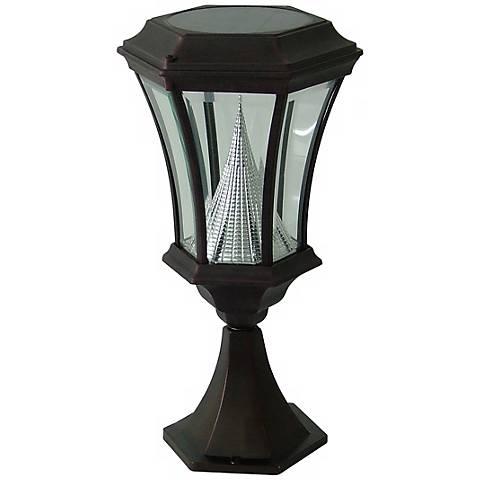 Black Solar Lamp LED Post Light