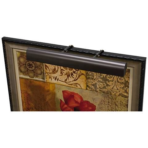 """House of Troy Traditional 21""""W Mahogany Bronze Picture Light"""