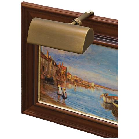 """House of Troy Traditional 5""""W Weathered Brass Picture Light"""
