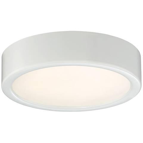 "George Kovacs Puzo 6"" Wide White LED Ceiling Light"