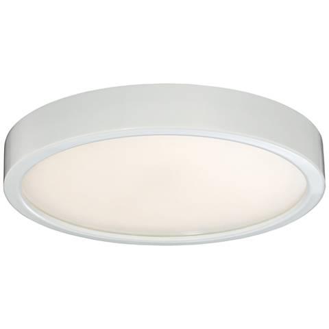 "George Kovacs Puzo 10"" Wide White LED Ceiling Light"