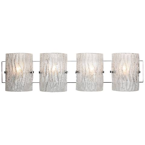 "Varaluz Brilliance 31 1/4"" Wide Chrome 4-Light Bath Light"