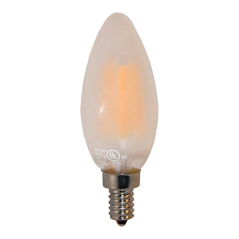 60W Equivalent Frosted 6W LED Dimmable Candelabra Bulb