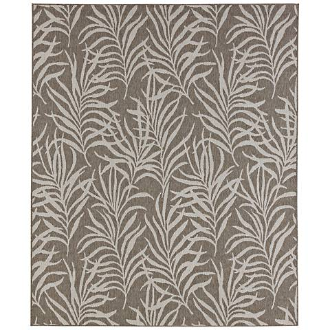 Portico 91021 Hanalei Bay Silver Outdoor Area Rug