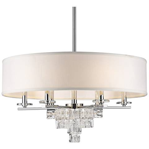 "Crystorama Addison 25"" Wide Polished Chrome Pendant Light"