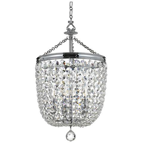 "Crystorama Archer 14"" Wide Polished Chrome Pendant Light"