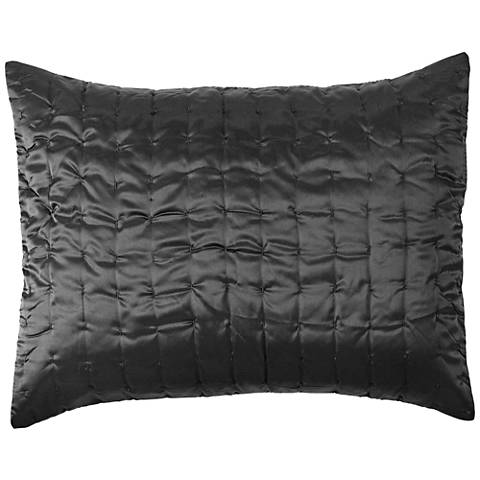 Aurora Charcoal Fabric Pillow Sham