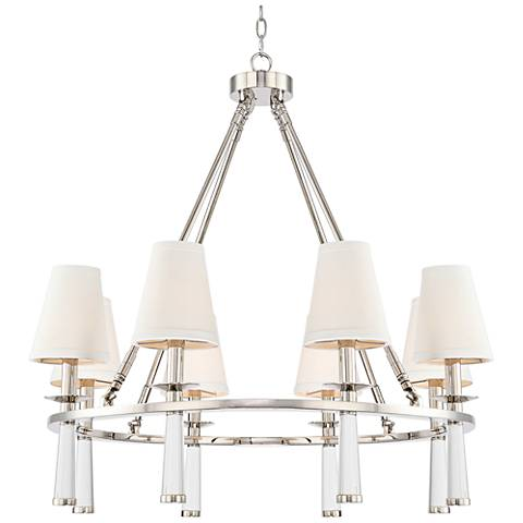 "Crystorama Baxter 31 1/2"" Wide Nickel 8-Light Chandelier"