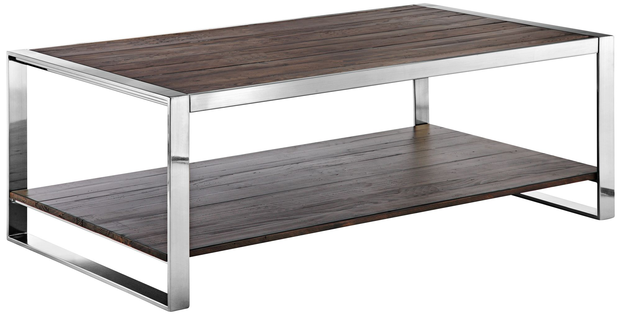 Lawson Reclaimed Dark Pine And Brushed Nickel Cocktail
