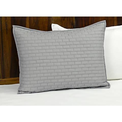 Brick Gray Cotton Pillow Sham