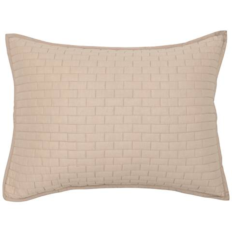 Brick Natural Cotton Pillow Sham