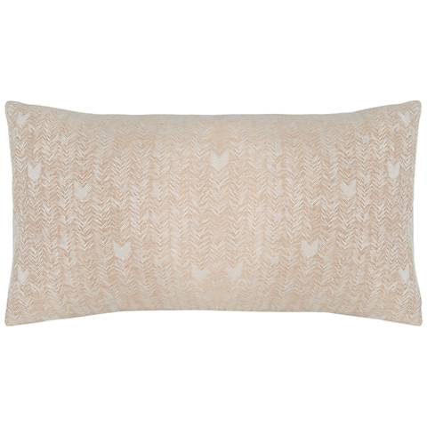 FH Natural and Ivory Fabric Pillow Sham
