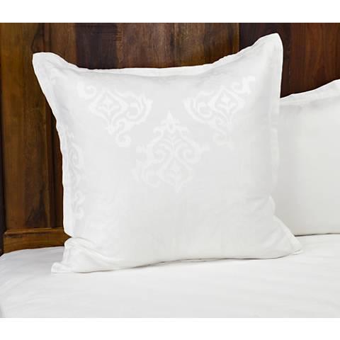 Francis Jacquard White Fabric Duvet