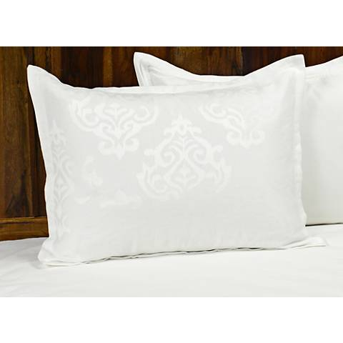 Francis Jacquard White Fabric Pillow Sham