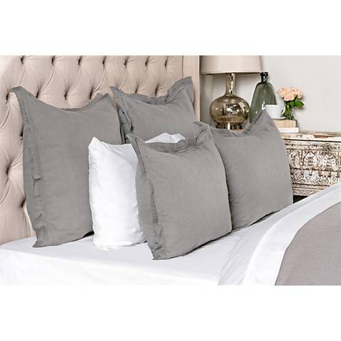Harlow Gray Fabric Duvet