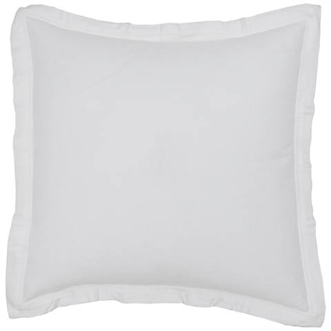 Harlow White Fabric Pillow Sham