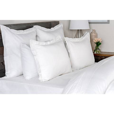 Harlow White Fabric Duvet