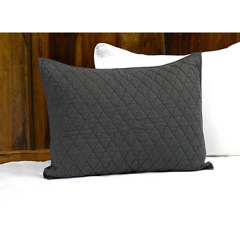 Lana Charcoal Diamond Cotton Pillow Sham