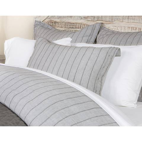 Monaco Gray Fabric King Duvet