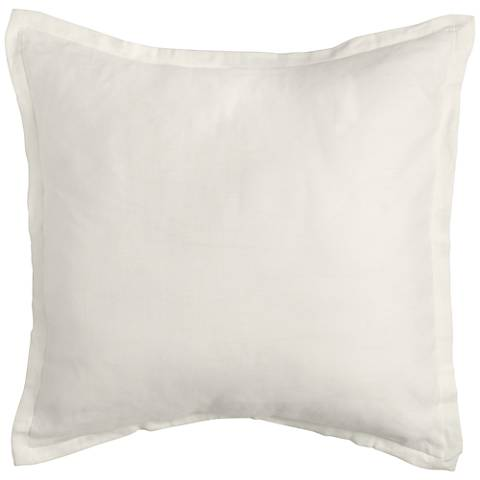 Tessa Ivory Fabric Pillow Sham